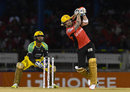 Brendon McCullum smashes the ball down the ground, Trinbago Knight Riders v Jamaica Tallawahs, CPL 2016, Port of Spain, July 4, 2016