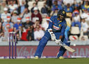Danushka Gunathilaka attempts to scoop the ball over short fine leg, England v Sri Lanka, only T20I, Southampton, July 5, 2016