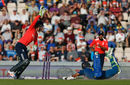Dasun Shanaka is caught short of the crease courtesy a direct hit, England v Sri Lanka, only T20I, Southampton, July 5, 2016