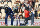 Jason Roy was bowled sweeping at Angelo Mathews in the first over, England v Sri Lanka, only T20I, Southampton, July 5, 2016