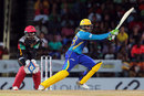 Shoaib Malik drags one onto the leg side, St Kitts and Nevis Patriots v Barbados Tridents, CPL 2016, Basseterre, July 5, 2016