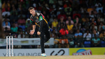 JJ Smuts has a bowl in the CPL