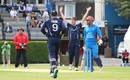 Alasdair Evans got Noor Ali Zadran early, Scotland v Afghanistan, 2nd ODI, Edinburgh, July 6, 2016