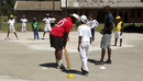 Tino Mawoyo conducts a coaching clinic at the Rama Sports Academy in Chitungwiza