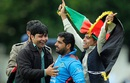 Mohammad Shahzad is mobbed by fans, Scotland v Afghanistan, 2nd ODI, Edinburgh, July 6, 2016