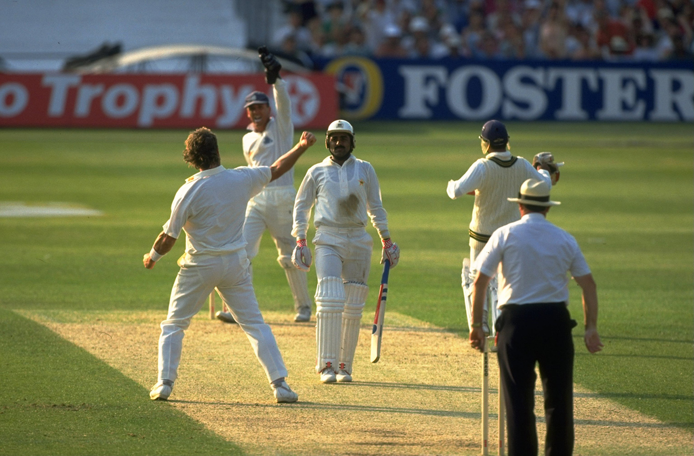 Grudge match-up: Miandad b Botham in the second ODI, at The Oval