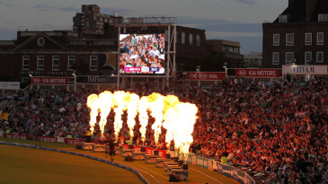 Flamethrowers at The Oval