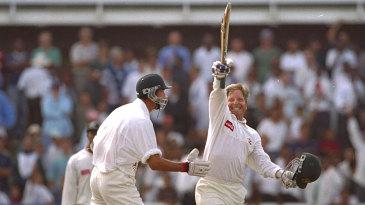 Ian Healy salutes his winning six