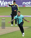 Jade Dernbach helped seal Surrey's victory, Surrey v Somerset, NatWest T20 Blast, South Group, Kia Oval, July 8, 2016