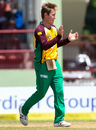 Adam Zampa celebrates after taking a wicket, Guyana Amazon Warriors v St Kitts and Nevis Patriots, CPL 2016, Providence, July 9, 2016