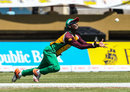 Jason Mohammed dives forward for a catch, Guyana Amazon Warriors v St Kitts and Nevis Patriots, CPL 2016, Providence, July 9, 2016