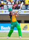 Chris Lynn hits out during his knock of 34, Guyana Amazon Warriors v St Kitts and Nevis Patriots, CPL 2016, Providence, July 9, 2016