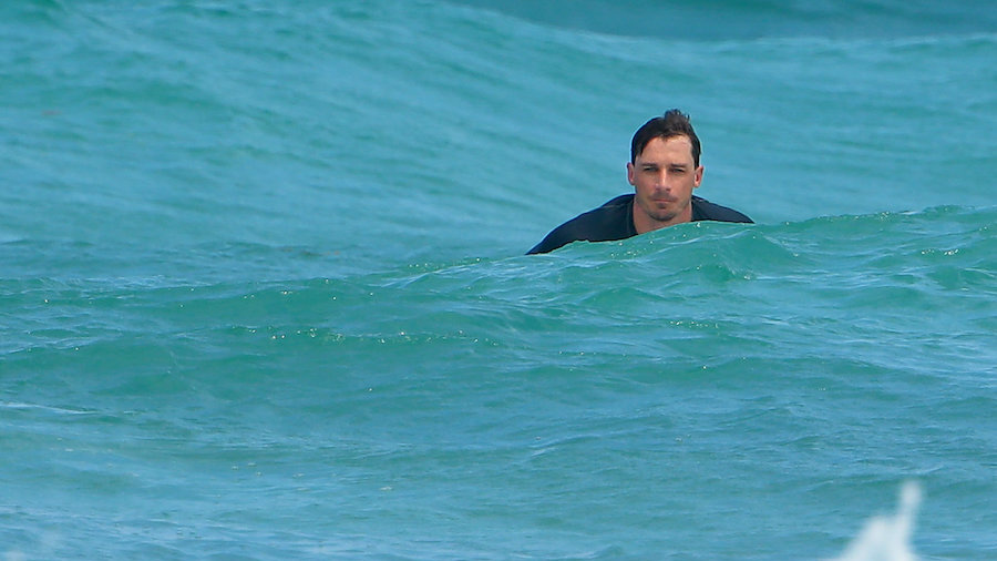 Dale Steyn went surfing during a break
