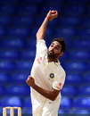 Bhuvneshwar Kumar dismissed Leon Johnson cheaply, WICB President's XI v Indians, day two, St. Kitts, July 10, 2016