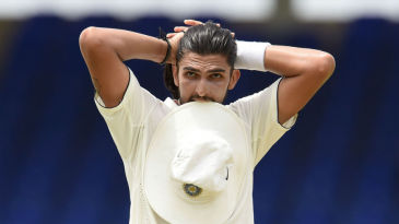 Ishant Sharma looks on