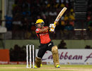 Umar Akmal targets the off side, Guyana Amazon Warriors v Trinbago Knight Riders, CPL 2016, Providence, July 10, 2016