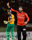 Anton Devcich bowled a frugal spell and took two wickets, Guyana Amazon Warriors v Trinbago Knight Riders, CPL 2016, Providence, July 10, 2016