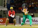 Martin Guptill tucks the ball to the leg side, Guyana Amazon Warriors v Trinbago Knight Riders, CPL 2016, Providence, July 10, 2016