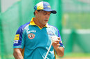 Barbados Tridents coach Robin Singh in the nets, CPL 2016, Bridgetown, July 10, 2016