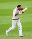 Peter Trego celebrates a fine century for Somerset, Somerset v Middlesex, Specsavers Championship Division One, Taunton, 3rd day, July 12, 2016