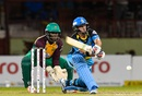 Michael Hussey shapes to reverse sweep, Guyana Amazon Warriors v St Lucia Zouks, CPL 2016, Guyana, July 12, 2016