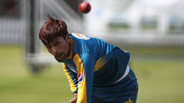 Mohammad Amir in the nets ahead of his Test comeback