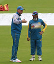 Mickey Arthur chats with Mushtaq Ahmed, Lord's, July 13, 2016