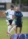 Alastair Cook and Paul Farbrace in the nets at Lord's, England v Pakistan, 1st Investec Test, Lord's, July 13, 2016