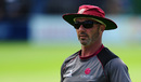 Matt Maynard, Somerset coach, supervises a tense final day at Taunton, Somerset v Middlesex, Specsavers Championship Division One, Taunton, 4th day