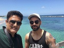 Anil Kumble and Virat Kohli at a team bonding session, St Kitts and Nevis, July 13, 2016