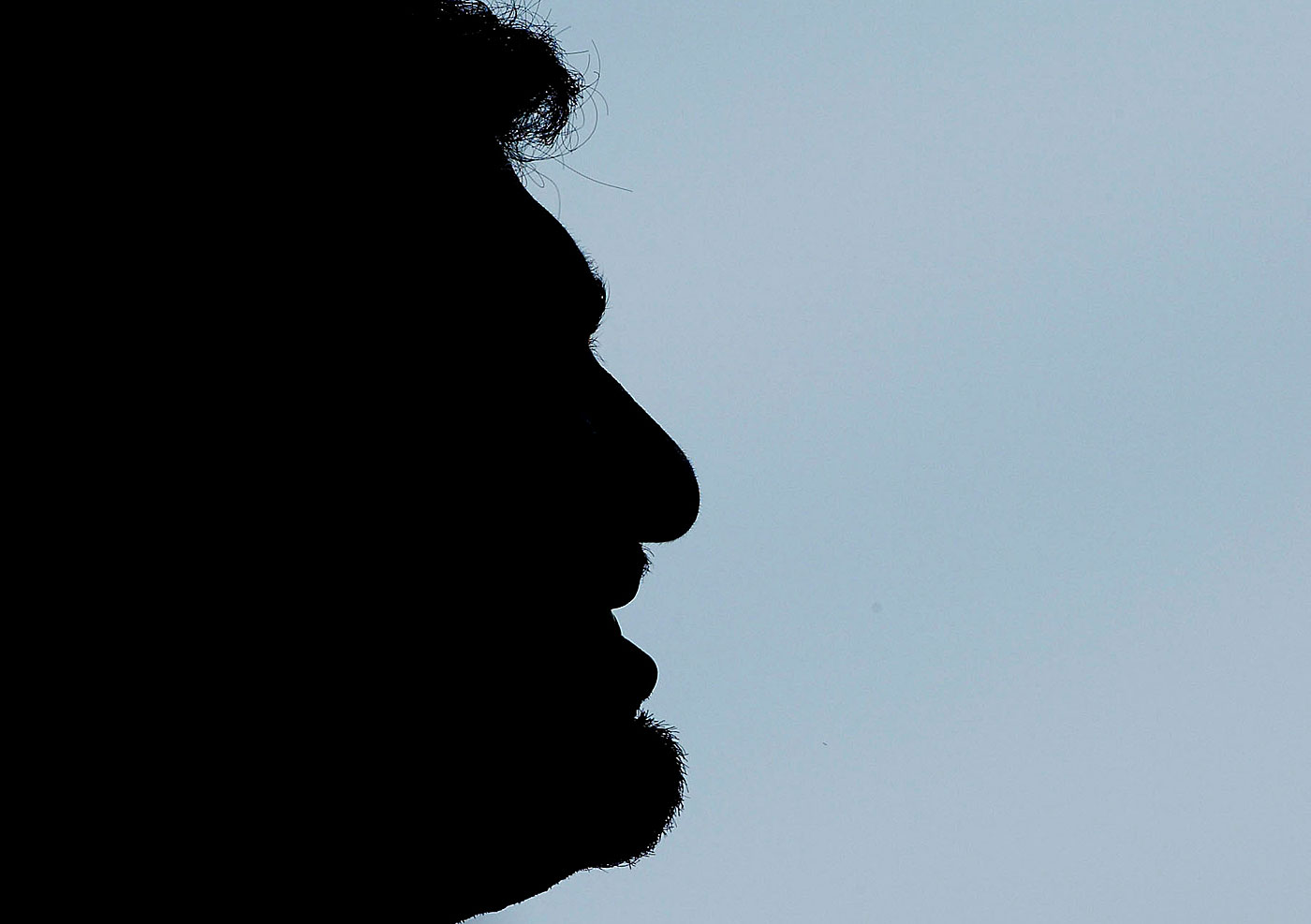 Silhouette of Muttiah Muralitharan