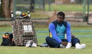 Angelo Mathews takes a breather during training, Colombo, July 15, 2016