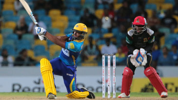 Nicholas Pooran struck four sixes during his 19-ball 38