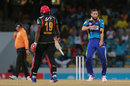 Wayne Parnell lets out his emotions after bowling Sheldon Cottrell, Barbados Tridents v St Kitts and Nevis Patriots, CPL 2016, Barbados, July 13, 2016