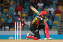 Faf du Plessis was bowled after a useful 42, Barbados Tridents v St Kitts and Nevis Patriots, CPL 2016, Barbados, July 13, 2016