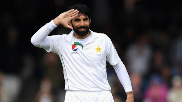 Misbah-ul-Haq salutes on reaching three figures