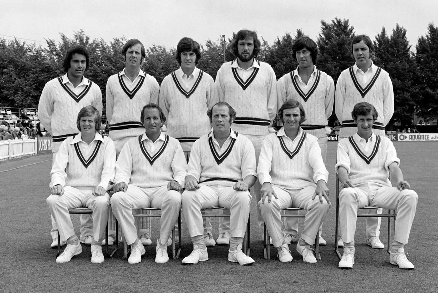 Imran (standing, second from right) and John Parker (fourth from right) with the 1973 Worcestershire squad