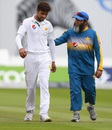 Mohammad Amir gets a pat from Mushtaq Ahmed, England v Pakistan, 1st Investec Test, Lord's, 2nd day, July 15, 2016
