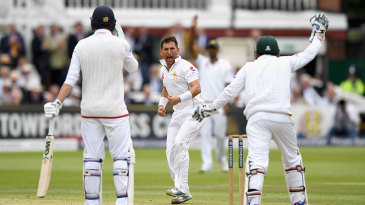 James Vince was lbw to Yasir Shah on the back foot
