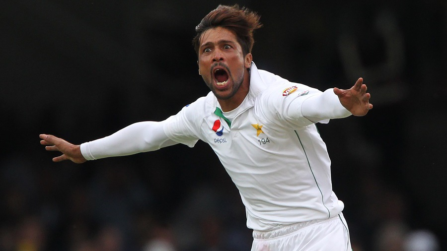 Mohammad Amir had Alastair Cook bowled for his first comeback wicket