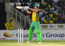 Chris Lynn goes for an upper cut, Jamaica Tallawahs v Guyana Amazon Warriors, CPL 2016, Kingston, July 15, 2016