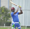 Marlon Samuels bats in the nets, Barbados, July 15, 2016