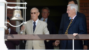 Yorkshire president John Hampshire rang the five-minute bell on the third day