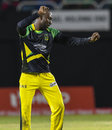 Kesrick Williams shows his moves after taking a wicket, Jamaica Tallawahs v St Kitts and Nevis Patriots, CPL 2016, Kingston, July 16, 2016