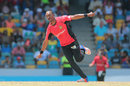 Dwayne Bravo is thrilled after a wicket, Barbados Tridents v Trinbago Knight Riders, CPL 2016, Bridgetown, July 16, 2016