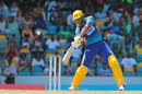 Kieron Pollard cuts during his 20-ball 41, Barbados Tridents v Trinbago Knight Riders, CPL 2016, Bridgetown, July 16, 2016