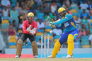Shoaib Malik goes on the back foot for a cut, Barbados Tridents v Trinbago Knight Riders, CPL 2016, Bridgetown, July 16, 2016