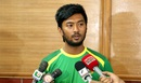 Noor Hossain addresses the media at the National Cricket Academy, Mirpur, July 17, 2016