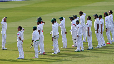 Salute to victory: Pakistan mark their winning moment