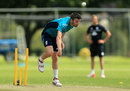 Mark Wood bowls at England Lions training, Cheltenham, July 18, 2016